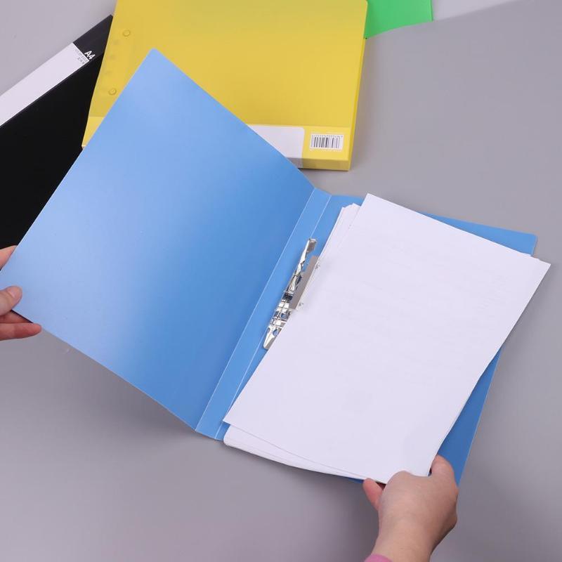 1Pcs A4 Single Clip File Folders Document Holder Paper Filling Folder Student File Clip Binder School Business Office Stationery