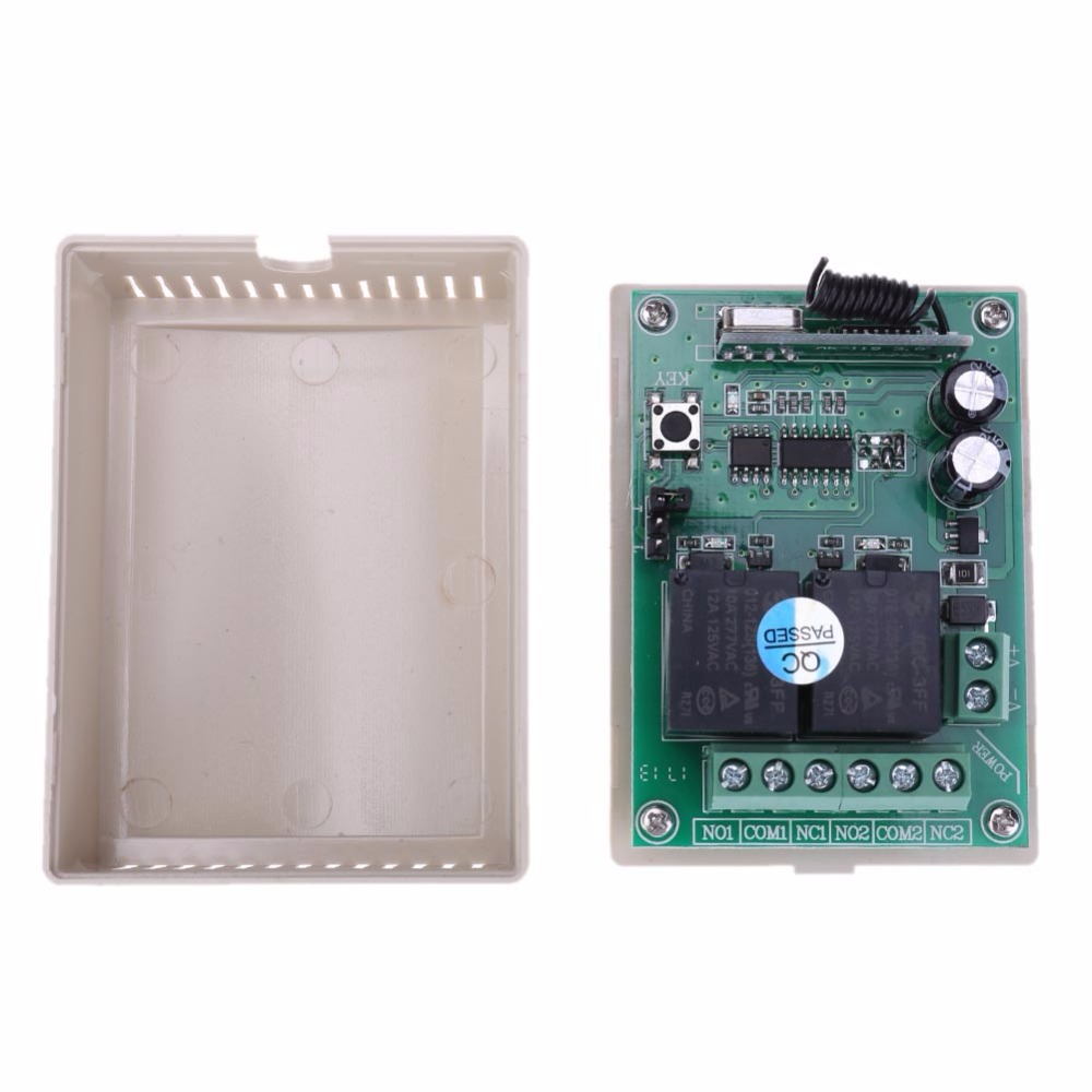 Practical DC 12V 2CH 433MHz Wireless Remote Control Switch Compatible 2262/2260/1527/2240 Code Remote Control Controller Switch lme21 330c2 combustion program controller control box for burner control compatible