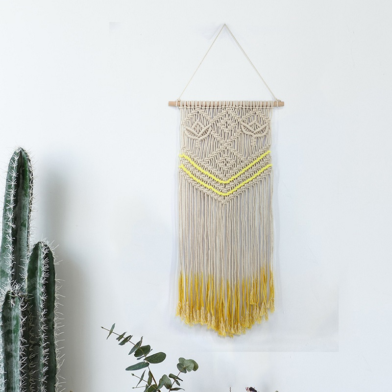 Mandala <font><b>Macrame</b></font> Tapestry <font><b>Tenture</b></font> <font><b>Murale</b></font> Mandala Bohemian Tapestry With Tassel Wall Hanging Knitted Home Decor toalla mandalas image