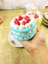 2016 новое прибытие супер медленный рост ЭРИК jumbo зефир 11 см круглый день рождения торт squishy шарм toy оригинальный лук freeshipping