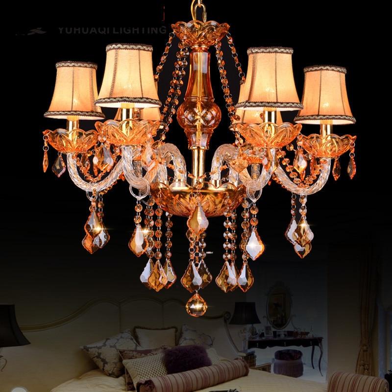 Modern chandelier lighting For Bedroom Kitchen Lights Fixtures lustres para sala de jantar Gold crystal chandelier for home