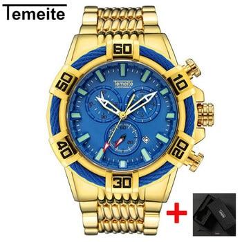 Top Marke Quarz Analog Gold Uhr Luxus Sport Uhren Männer Wasserdichte Military Armbanduhr Männlichen Uhr Temeite Relogio Masculino