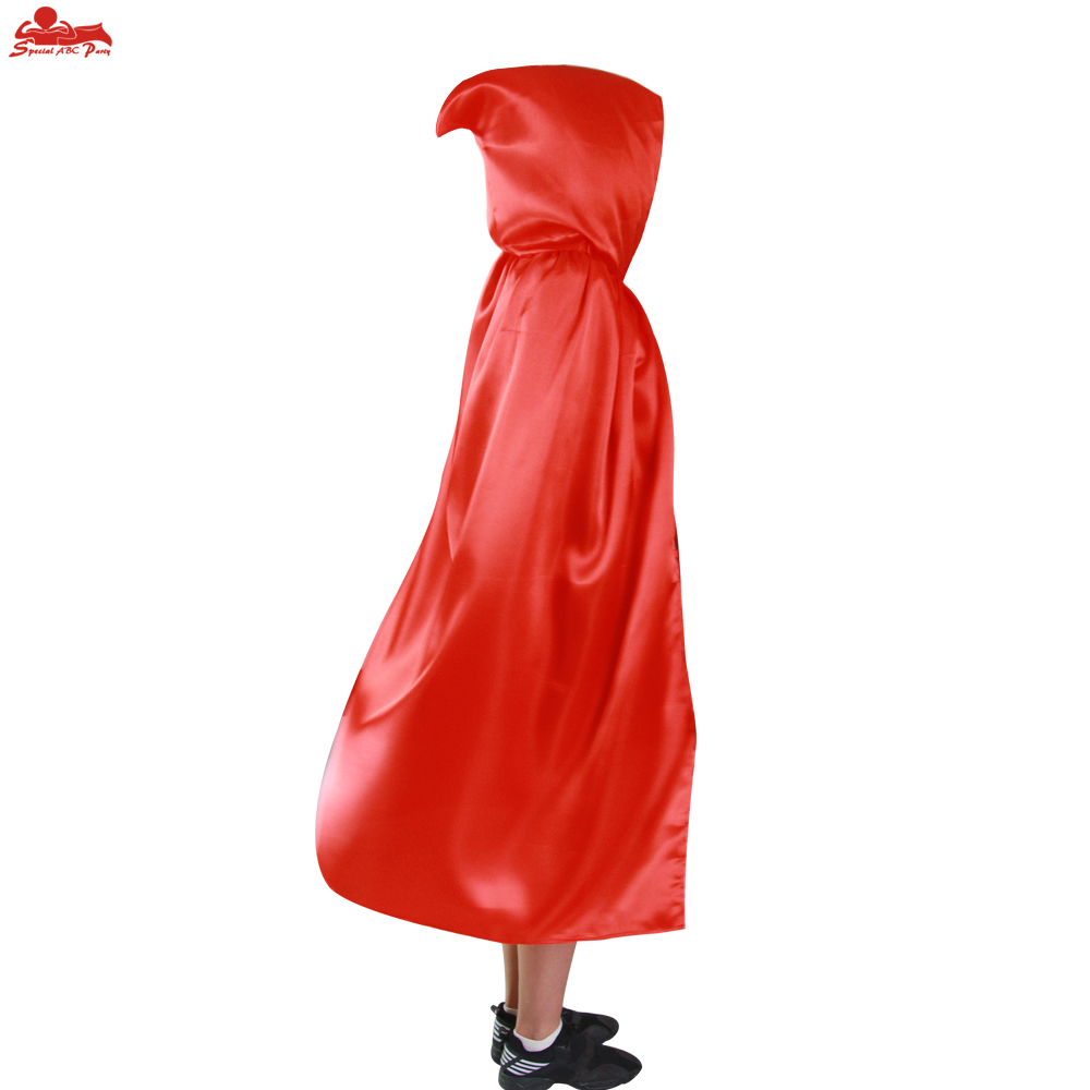 SPECIAL 170*140 cm adult witch cape long single layer red cloak hero Halloween party decoration gifts red riding hood cloak