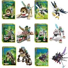 Легендарное животное editon Chimaed Super Heroes строительные блоки Лев КРОК Орел фигурки кирпичи для детей подарок детские игрушки BKX23