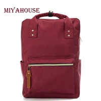 Miyahouse Japan Style Canvas Backpack For Teenagers High Quality Travel Backpack Women Simple Style Laptop