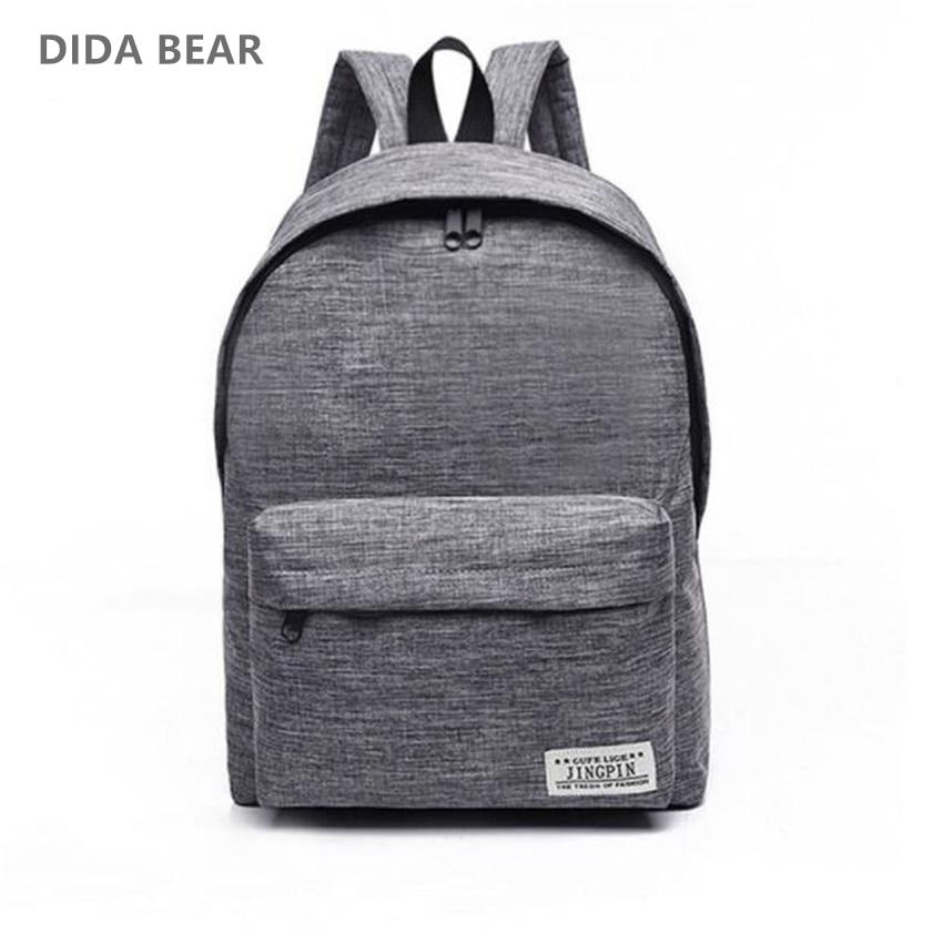 40a85e652 DIDA BEAR Canvas Men Women Backpacks Large - Bags & Shoes