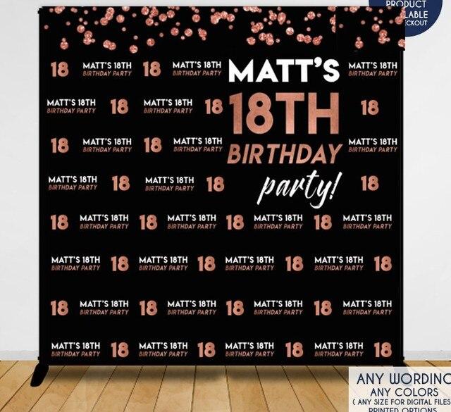 custom birthday decor 18th birthday black photography studio