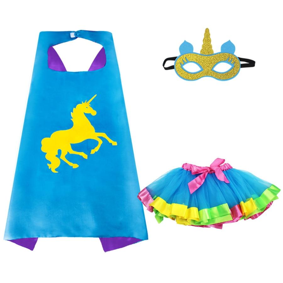 Nuttig Speciale Eenhoorn Kostuum Voor Meisjes Masker Rok Verjaardag Dance Show Jurken Speelgoed Kerstmis Carnaval Party Kostuums