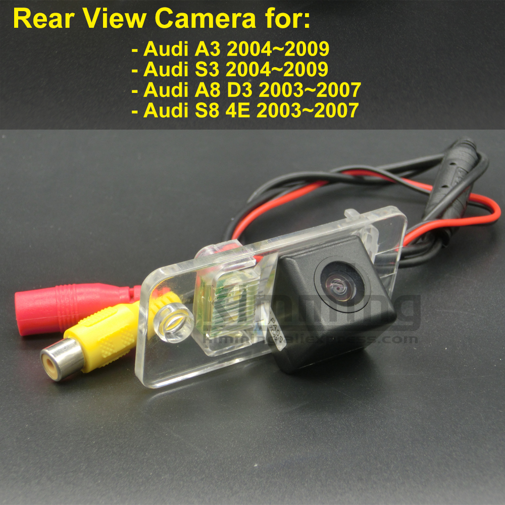 Car Rear View Camera for <font><b>Audi</b></font> A3 S3 <font><b>A8</b></font> <font><b>D3</b></font> S8 <font><b>4E</b></font> 2003 2004 2005 2006 2007 2008 2009 Wireless Parking Reversing Backup Camera CCD image