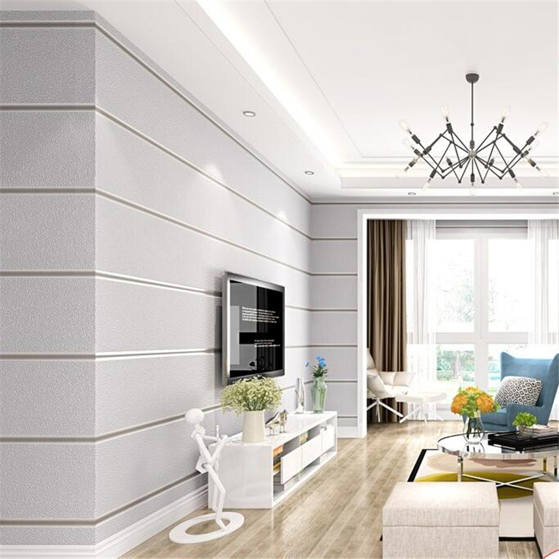 beibehang Simple modern striped wallpaper marble washable 3d fine leather pattern nonwoven wallpaper living room papel de parede image