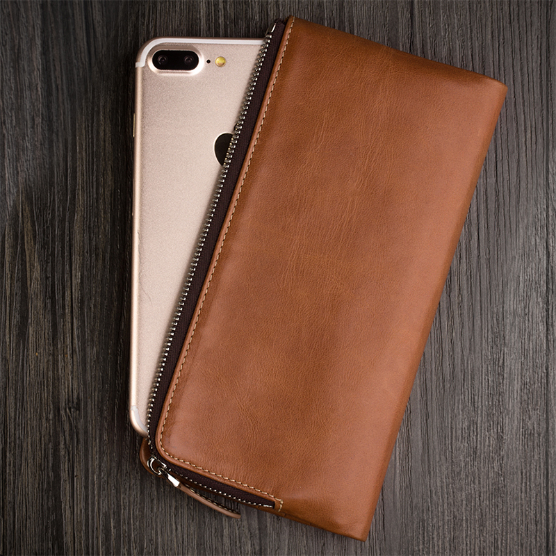 QIALINO 2019 Holster for iphone XR Genuine Leather New Wallet Case for iPhone 8 plus Luxury Handmade slots for cards iXS Max