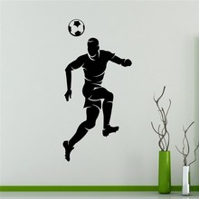 Free shipping DIY Soccer Player Wall Sticker Football Vinyl Sport Home Interior Murals Housewares sticker