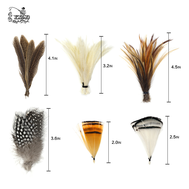 Fly Tying Materials 12 species Natural Feathers Set Reindeer Hair Pheasant Fly Tying Flies Lure Making for Wet Dry Nymph Flies 5sheets pack 10cm x 5cm holographic adhesive film fly tying laser rainbow materials sticker film flash tape for fly lure fishing