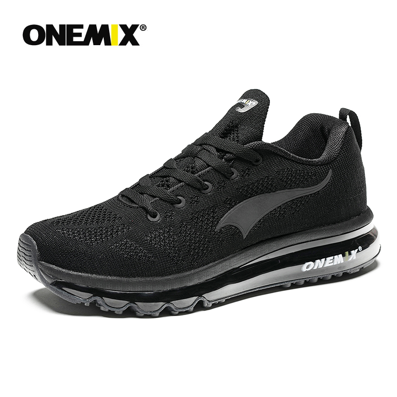 ONEMIX 2018 Men Running Shoes Breathable Runner Athletic Sneakers Air cushion running shoes outdoor walking shoes free shipping