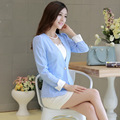 Blazer Women Limited Time-limited No Sweet Style 2015 Feminino Lace Blazers Solid Sleeve Women Single Button Suit Jacket Brand