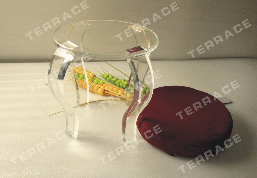 s legs new small acrylic four legged stoolluicte cheap acrylic furniture