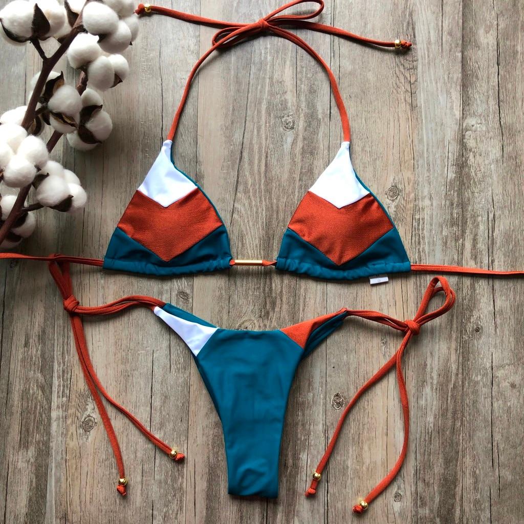 Модный танкини, женский сексуальный комплект бикини, хит продаж, спортивный купальник, пуш-ап, Мягкий купальник, комплект из двух предметов, biquinis feminino, 2019 #45