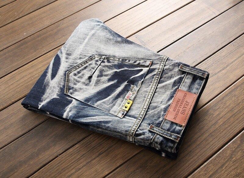 2017 Warm Jeans Men Winter Vintage Skinny Jeans Fashion Straight Biker Jeans Denim Casual Male Pants Jogger Jeans Big Size 29-42
