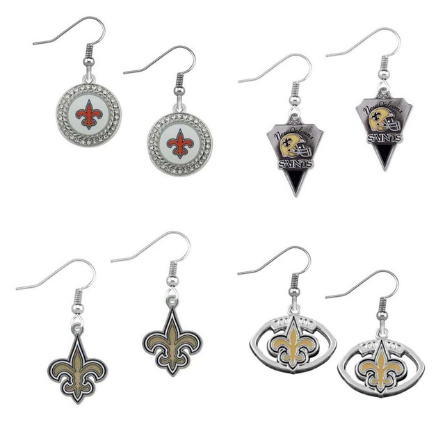 Women Jewelry New Orleans Saints Team Alloy Enamel Earrings Sports Fan