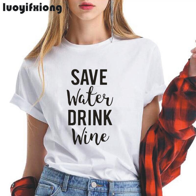 Save Water Drink Wine Funny Women Tee Drink Wine Tee Save Water T Shirt