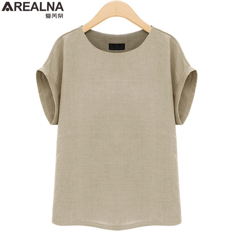 AREALNA Summer Fashion shirt women tops Short Sleeves Female Blouses Casual Loose office blouse Blusas femininas Plus Size 5XL 1
