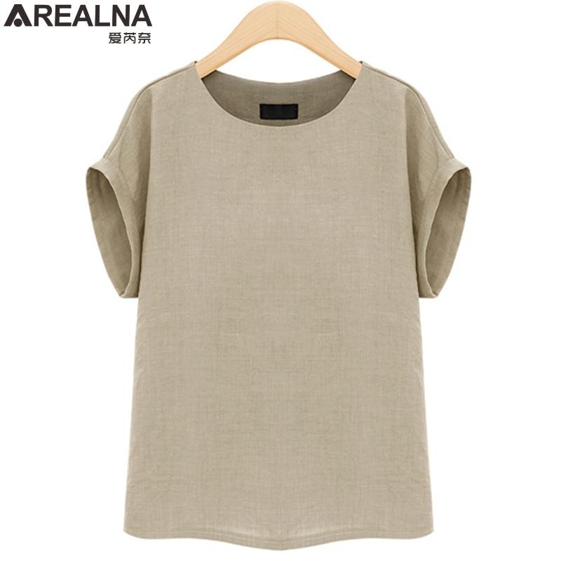 AREALNA Summer Fashion shirt women tops Short Sleeves Female Blouses Casual Loose office blouse Blusas femininas Plus Size 5XL 1