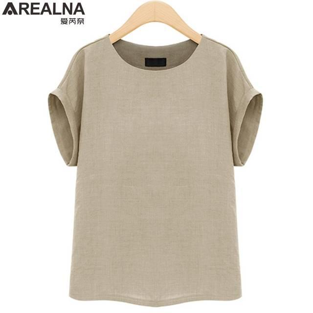 placeholder AREALNA camisa Moda Verão mulheres tops Mangas Curtas Feminino  Blusas Soltas Casual escritório blusa Blusas femininas 05d4c7f15a720