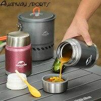 350 ml di 304 in acciaio inox stufato pentola tazza di Vuoto cotto becher bollente zuppa di riso uova stufato di farina d'avena polenta pentola Brasato hot
