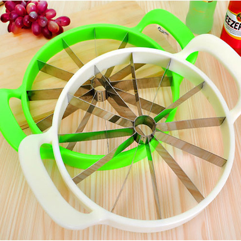 Kitchen Practical Tools Creative Watermelon Slicer Melon Cutter Knife 410 stainless steel Fruit Cutting Slicer White