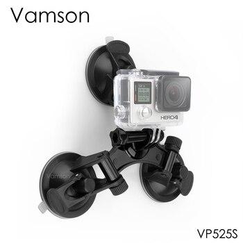 Vamson สำหรับอุปกรณ์เสริม Go pro Mount Triple ฟุตดูดถ้วยสำหรับ Yi Gopro Hero 7 6 5 4 สำหรับ DJI OSMO กล้อง VP525S