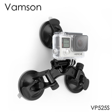 Vamson for Go pro Accessories Mount Triple Feet Suction Cup for Yi for Gopro Hero 7 6 5 4 for DJI OSMO Action Camera VP525S