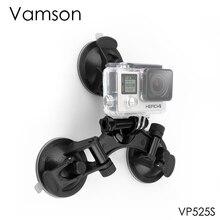 Vamson voor Go pro Accessoires Mount Triple Voeten Zuignap voor Yi voor Gopro Hero 7 6 5 4 voor DJI OSMO Actie Camera VP525S