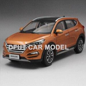 Масштаб 1:18 сплав потяните назад игрушечный автомобиль новая модель автомобиля Tucson детская Игрушечная машина Оригинальные авторизованные ...