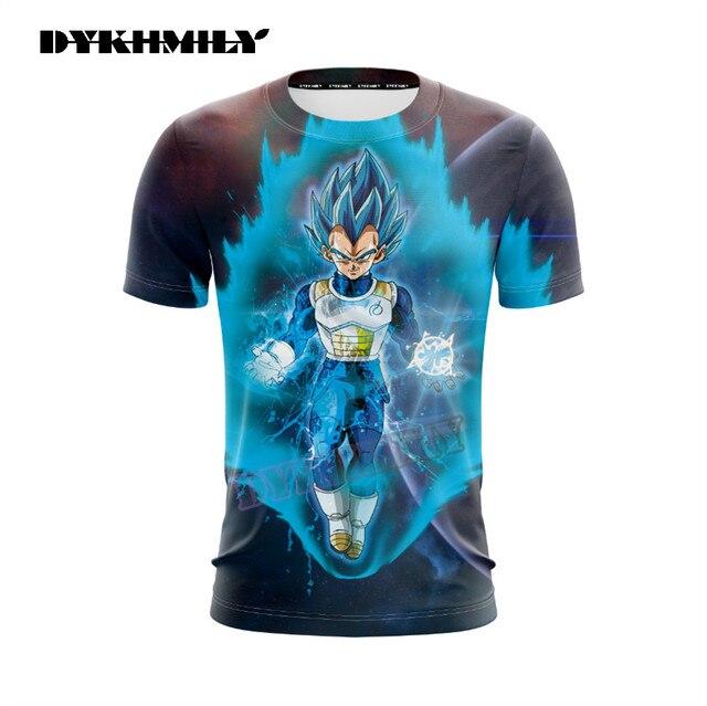 Super Vegeta Cool Short Sleeves 3D T-shirt