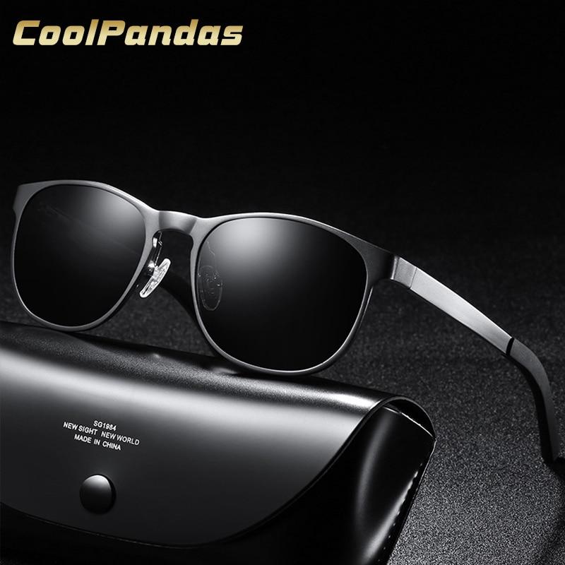 2018 Brand Design Men Classic Aviation Pra Sunglasses HD Polarized Aluminum Driving Luxury Black Sun glasses UV400 oculos de sol