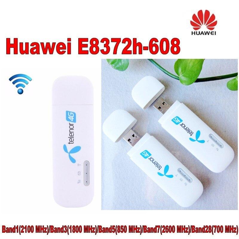 Lote de 2 piezas desbloqueado Huawei E8372 E8372h-608 Wingle LTE Universal 4G módem USB coche wifi plus 2 piezas antena