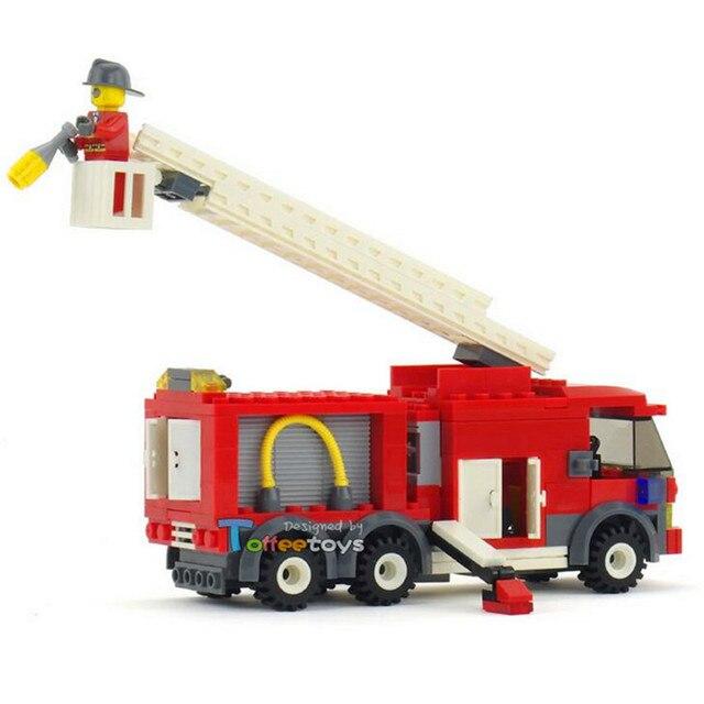 202pcs Kids Educational City Construction Fire Fighting Truck Building Blocks DIY Assembly Bricks Toys Gift