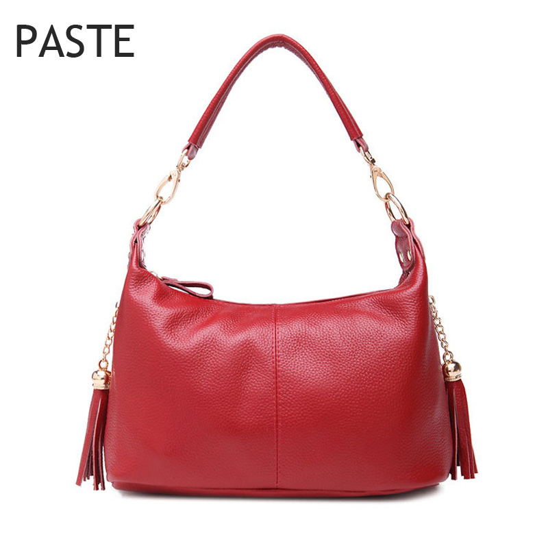 2017 Women Crossbody Bag Tassel Natural Leather Female Handbag 100 Real Leather Small Women Shoulder Bag