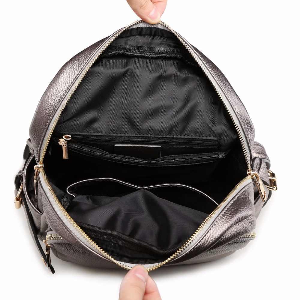 ZENCY 2019 большие модные женские рюкзаки из натуральной кожи с крокодиловым узором женская школьная сумка дизайнерский рюкзак из воловьей кожи