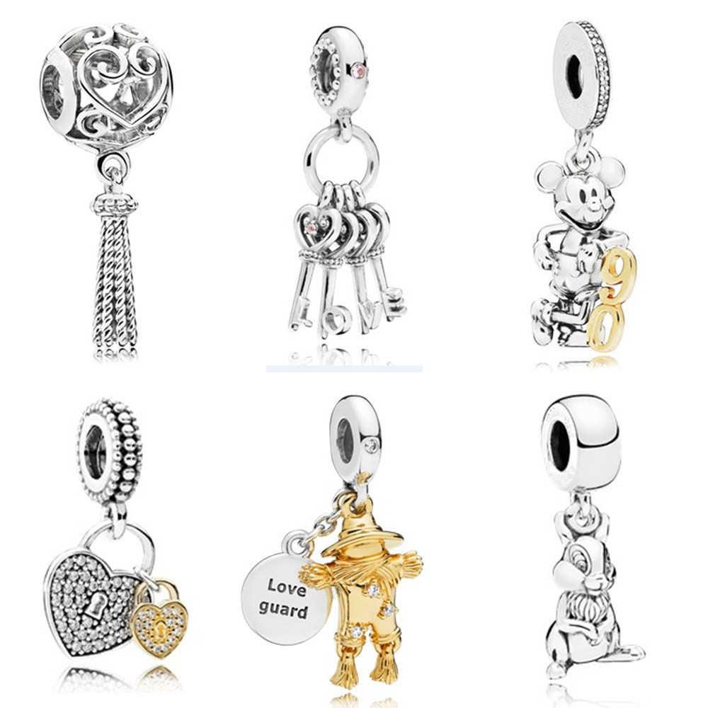 AIFEILI Кулон Слон модный тренд браслет из бисера Письмо Ловец снов Fit Pandora талисманы Серебряный подарок ювелирные изделия