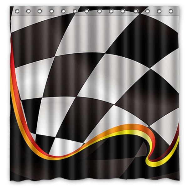 Fine Checkered Flag Shower Curtain Ideas - Bathroom with Bathtub ...