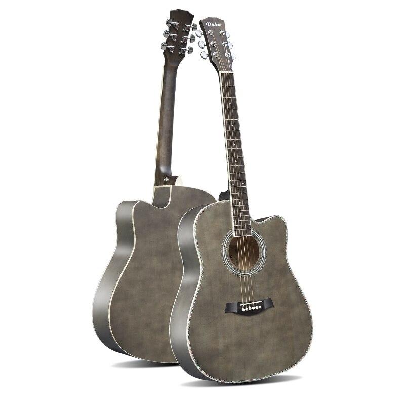 40'' 41'' Guitar Acoustic Steel-String Balladry Folk Pop Flattop 41 Inch Basswood 6 String Guitarra Matte Cutaway Beginner square head sealed string winders for 40 41 acoustic guitar black 6 pcs