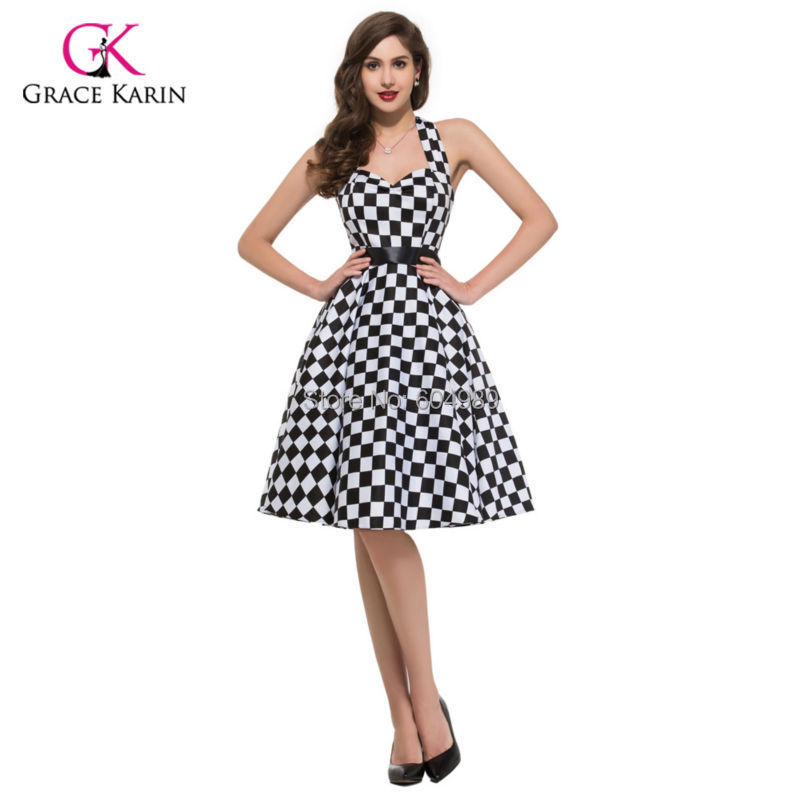 Vestidos Summer Style plus size Cotton Pin up Dress Rockabilly 60s ...