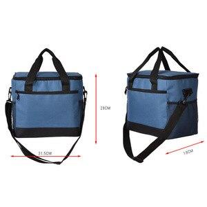 Image 5 - Вместительный ланч мешок, водонепроницаемая изолированная Термосумка для женщин и мужчин, контейнер для еды для пикника, Ланч бокс