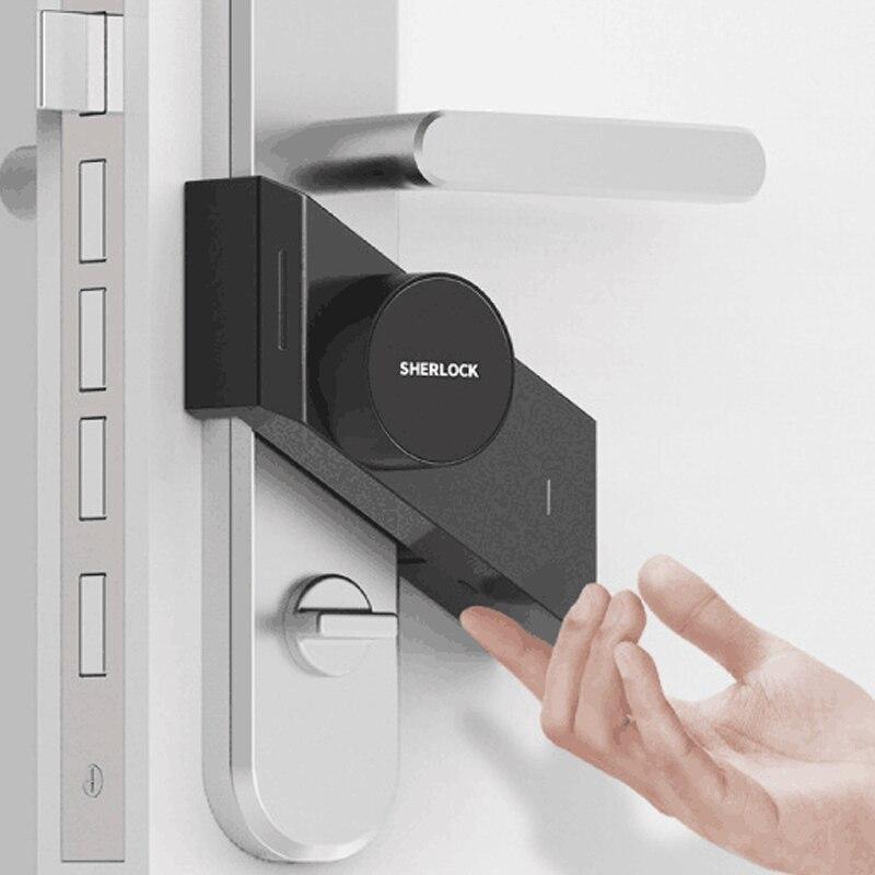 все цены на New Version Sherlock Smart Stick lock S2 Smart door lock Bluetooth Wirelless Open or Close Door work Smart App Control