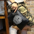 Xiao.p New Envelope Clutch Bags Cartoon Printing Day Clutches Purse Small Shoulder Bag Men Cross body Bag for Male Wristlet