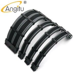 Image 1 - Custom Make 180 Degree Computer 24Pin ATX, CPU 8Pin, Dual GPU 8Pin 6+2Pin PCI E Power Extension Cable Kit