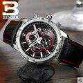Binger homens relógio de pulso de luxo relógio marca de negócios de moda de lazer liga caixa multi-funcional design relógios frete grátis