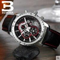 Binger reloj de los hombres de lujo reloj de la marca de moda carcasa de aleación de diseño de múltiples funciones de negocios de ocio mira el envío libre