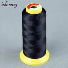 1 Roll Black Brown Blonde Nylon Hair Weaving Thread For Brazilian Human Hair Extensions Weaves Too/Salon Professional Accessorie(China)